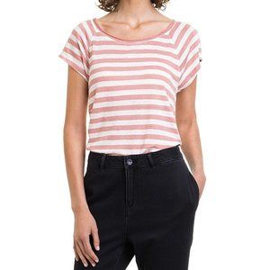 Country Road Pink Striped Linen Swing T-Shirt S